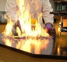Fire in Lab